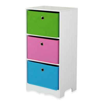 HDS Trading 3-Drawer Storage Shelf