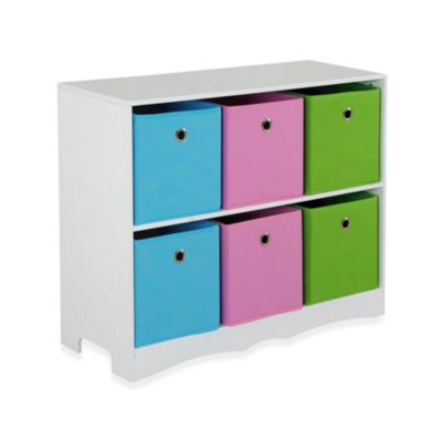 HDS Trading 6-Bin Storage Shelf