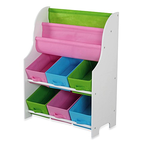 HDS Trading Large Book Holder & Storage Shelf