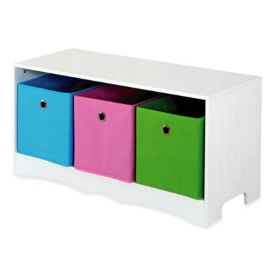 HDS Trading 3-Drawer Storage Bench