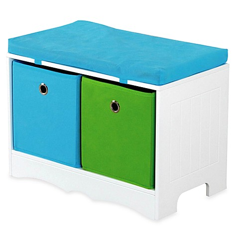 HDS Trading 2-Drawer Storage Bench with Cushioned Top