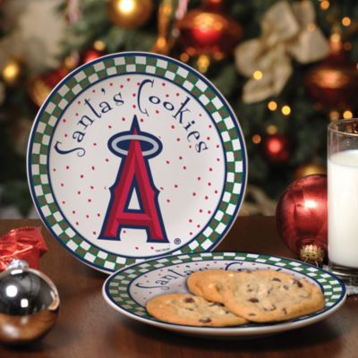 Los Angeles Angels of Anaheim Santa Cookie Plate