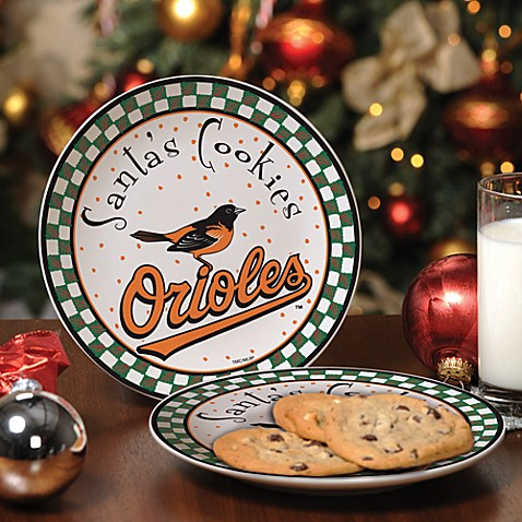 Baltimore Orioles Santa Cookie Plate