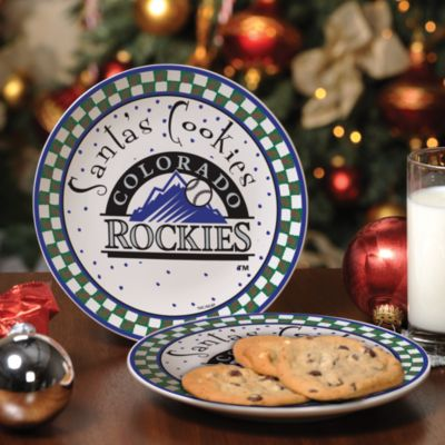 Colorado Rockies Santa Cookie Plate
