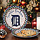 Detroit Tigers Santa Cookie Plate