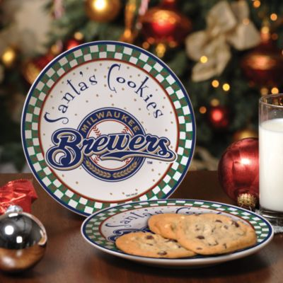 Milwaukee Brewers Santa Cookie Plate