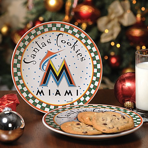 Miami Marlins Santa Cookie Plate