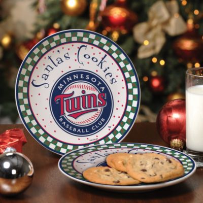 Minnesota Twins Santa Cookie Plate