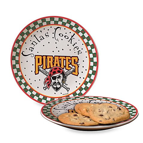 Pittsburgh Pirates Santa Cookie Plate