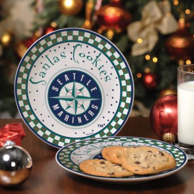Seattle Mariners Santa Cookie Plate