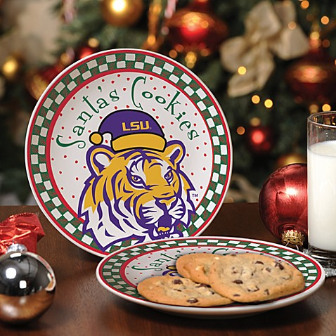 Louisiana State University Santa Cookie Plate