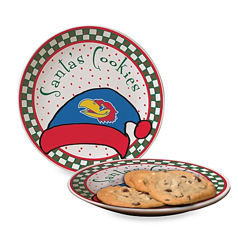 University of Kansas Santa Cookie Plate