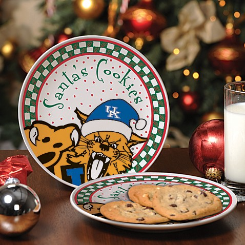 University of Kentucky Santa Cookie Plate