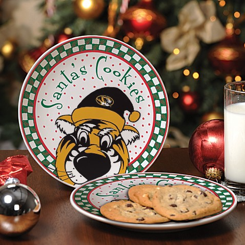 University of Missouri Santa Cookie Plate