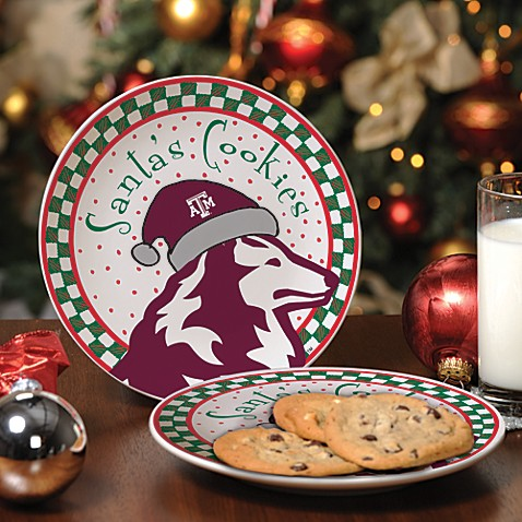 Texas A & M Santa Cookie Plate