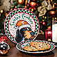 University of Tennessee Santa Cookie Plate