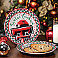Texas Tech Santa Cookie Plate