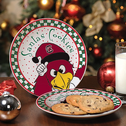University of South Carolina Santa Cookie Plate