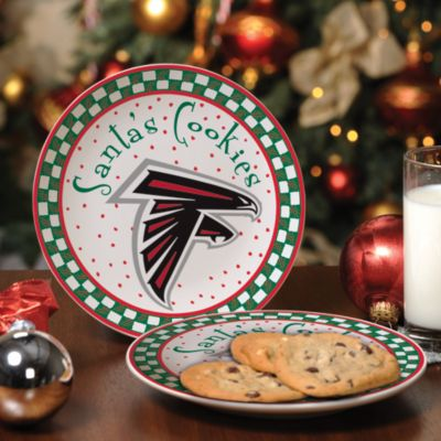 Atlanta Falcons Santa Cookie Plate