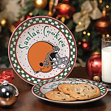 Cleveland Browns Santa Cookie Plate