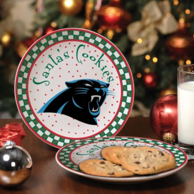 Carolina Panthers Santa Cookie Plate
