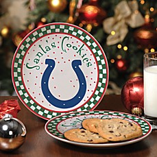 Indianapolis Colts Santa Cookie Plate
