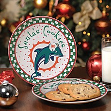 Miami Dolphins Santa Cookie Plate