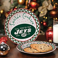 New York Jets Santa Cookie Plate