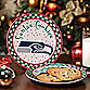 Seattle Seahawks Santa Cookie Plate