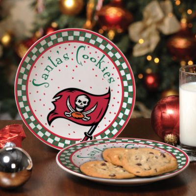 Tampa Bay Buccaneers Santa Cookie Plate