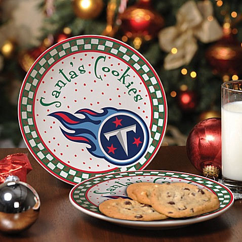 Tennessee Titans Santa Cookie Plate