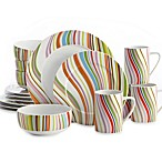 Echo Marble Swirl 16-Piece Dinnerware Set