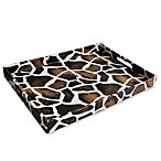 Giraffe Patterned Leather Serving Tray
