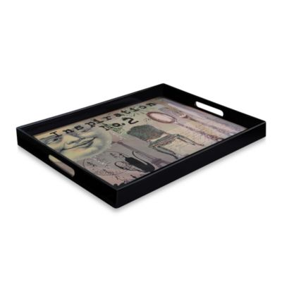 Moon Face Rectangular Serving Tray