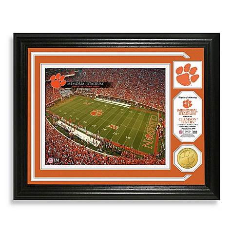 Clemson University Football Stadium Minted Team Medallion Photo Frame