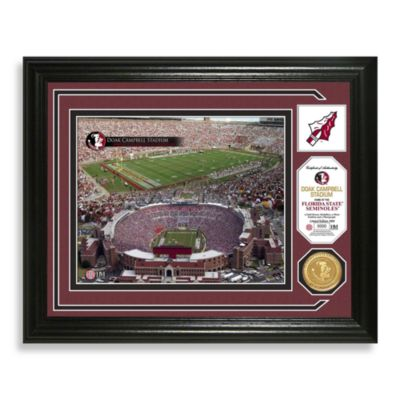 Florida State Football Stadium Minted Team Medallion Photo Frame