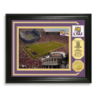 Louisiana State University Football Stadium Minted Team Medallion Photo Frame