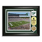 Michigan State Football Stadium Minted Team Medallion Photo Frame