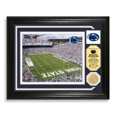 Penn State Football Stadium Minted Team Medallion Photo Frame