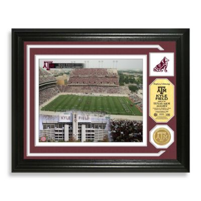 Texas A & M Football Stadium Minted Team Medallion Photo Frame