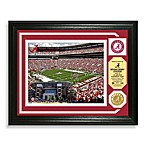 University of Alabama Football Stadium Minted Team Medallion Photo Frame