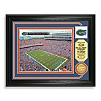 University of Florida Football Stadium Minted Team Medallion Photo Frame