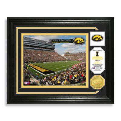 University of Iowa Football Stadium Minted Team Medallion Photo Frame