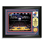 University of Kansas Basketball Court Minted Team Medallion Photo Frame