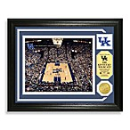 University of Kentucky Basketball Court Minted Team Medallion Photo Frame