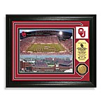 University of Oklahoma Football Stadium Minted Team Medallion Photo Frame