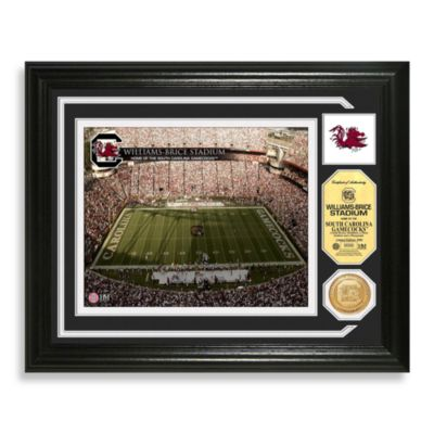 University of South Carolina Football Stadium Minted Team Medallion Photo Frame