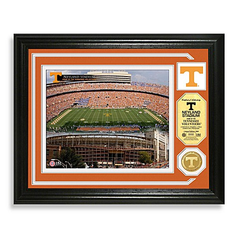 University of Tennessee Football Stadium Minted Team Medallion Photo Frame