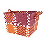 Virginia Tech Multi-Purpose Woven Storage Basket