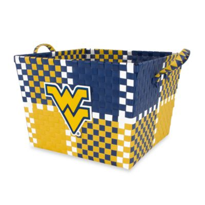 University of West Virginia Multi-Purpose Woven Storage Basket